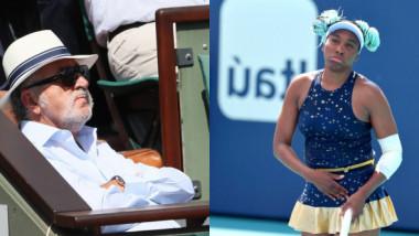 """În plin """"război"""" cu Serena, Ion Țiriac i-a făcut un """"cadou"""" neașteptat lui Venus Williams"""
