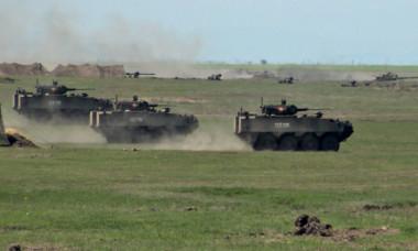 Scene de război în România. Armata a scos blindatele Piranha VIDEO