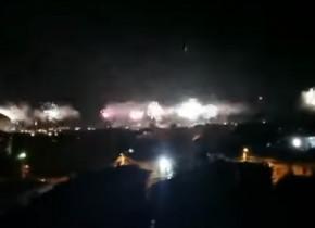 Revelion la Craiova! Spectacol impresionant de artificii, în miez de noapte, după promovarea celor de la FC U în Liga 1