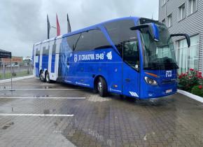 """""""Cel mai tare autocar"""" a ajuns la Craiova! Cum arată vehiculul ultramodern cumpărat de Mititelu"""