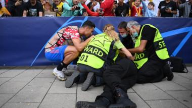 """FOTO Femeia lovită în plin de Cristiano Ronaldo credea că a murit când l-a văzut pe portughez: """"Dumnezeule, nu!"""""""