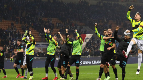 Inter - Sheriff 3-1. Milanezii îi administrează prima înfrângere debutantei din Moldova