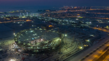 """Așa arată acum stadionul care va găzdui finala Cupei Mondiale din 2022. """"E finalizat în proporţie de 98,5%"""""""