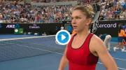 Prima reacţie a Simonei, după ce a spulberat-o pe Bouchard la Australian Open