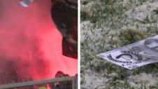 Ultraşii lui Dinamo au printat bancnote false de 50 de lei! Au aruncat cu banii în timpul meciului