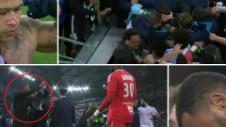 Pumni, sânge, înjurături și mulți nervi la finalul derby-ului Marseille - Lyon