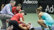 Bianca Andreescu s-a prăbuşit pe teren! Ce i-a şoptit adversarei, printre lacrimi