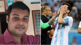 Dinu Alex, fan al lui Messi, s-a sinucis, după înfrângerea Argentinei. Biletul lăsat