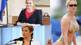 """Eroare uriaşă. """"Preşedinta Croaţiei, în costum de baie"""". Cine apare de fapt în imagini"""