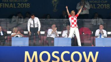 FOTO Gafă impardonabilă la finala CM. Ce a pățit președinta Croației