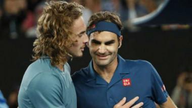 """""""Nu am văzut în viaţa mea aşa ceva!"""". Tsitsipas, după ce l-a bătut pe Federer, la Australian Open"""