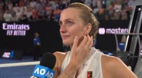 Petra Kvitova a început să plângă şi 15.000 de oameni au aplaudat-o, chiar dacă eliminase o australiancă