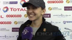 Simona Halep, cu zâmbetul până la urechi. Dialog spumos cu reporterul Digi Sport, după finala de la Doha