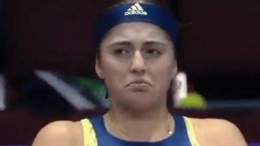 Jelena Ostapenko a început să plângă pe teren. Momentul în care a clacat