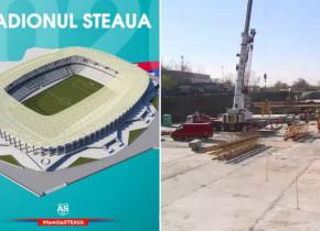 La cât la sută a ajuns construcția stadionului Steaua, cu 15 luni înainte de startul Euro 2020