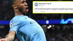 Admin-ul n-a mai suportat tensiunea! Postarea incredibilă de pe contul de Twitter al celor de la Man City