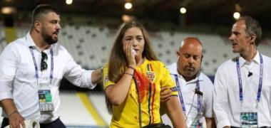 Incidentul șocant a ajuns în presa din străinătate! Imagini dureroase: cum arăta iubita lui Manea după meci și ce scriu englezii