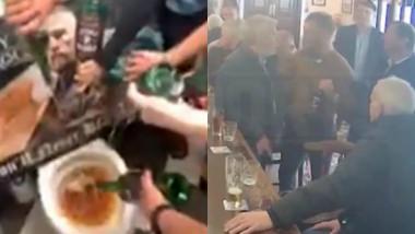 Proprietarii unui bar au aruncat tot whisky-ul în toaletă, după gestul golănesc la care au asistat. VIDEO