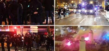 Parisul, transformat în câmp de luptă de turci. Un fan, lăsat inconștient. Polițiștii și-au abandonat mașinile