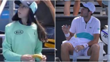 """Gestul unui tenismen francez a scandalizat pe toată lumea. Ce i-a cerut unei fete de mingi: """"Eu nu pot să o fac"""""""