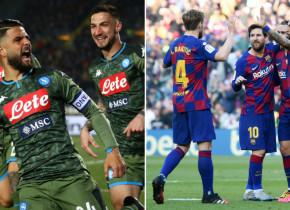 Napoli - Barcelona (22:00, Digi Sport 1) | Victorie categorică a catalanilor în ultima întâlnire directă. ECHIPELE