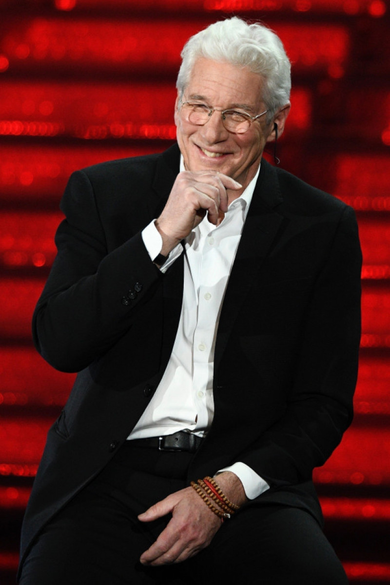 "*EXCLUSIVE* Richard Gere guest at the ""Sanremo Young"" talent interviewed by the Italian host Antonella Clerici"