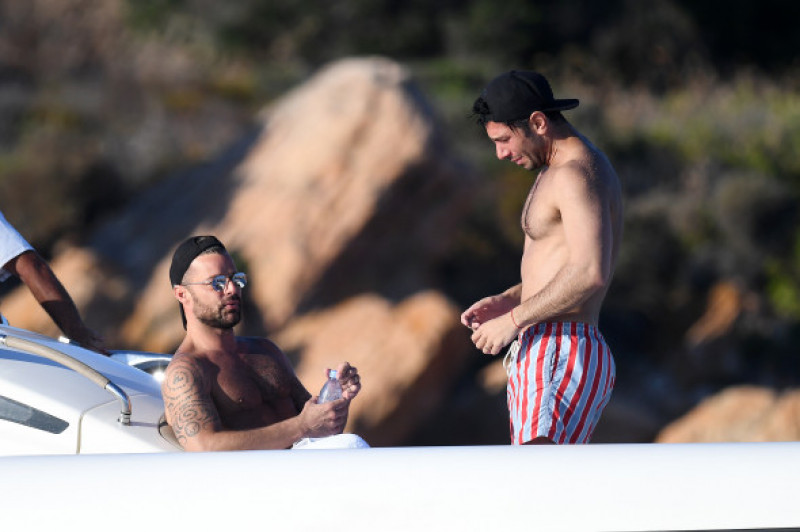 Ricky Martin and Jwan Yosef spotted in Sardinia