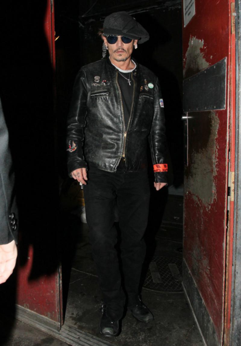 Johnny Depp Leaving Lady Gaga's Birthday Party At Gjelina