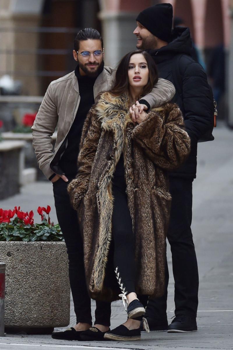 *EXCLUSIVE* Colombian singer Maluma and Natalia Barulich in Portofino