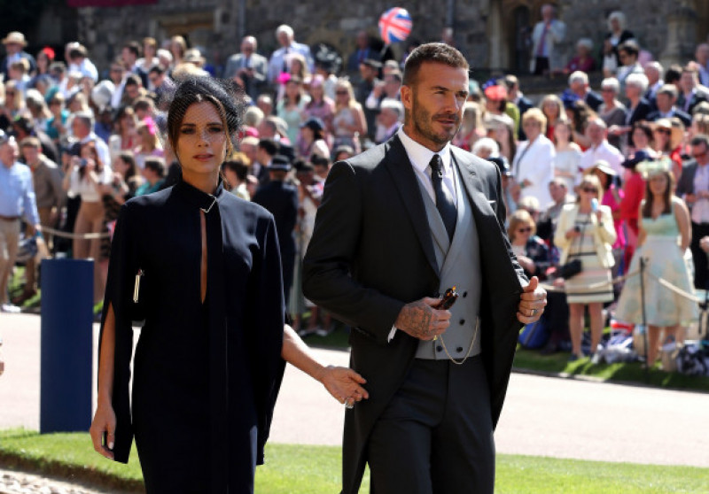 Victoria Beckham alături de David Beckham