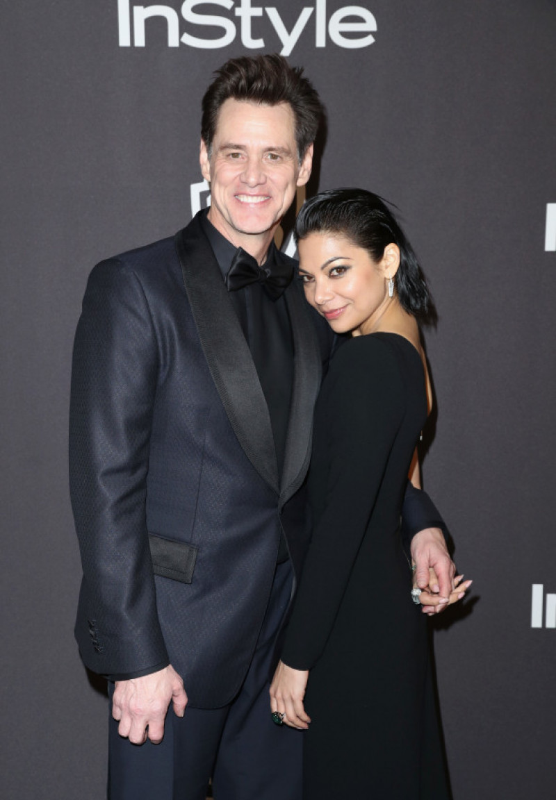 Jim Carrey with his new boyfriend Ginger Gonzaga