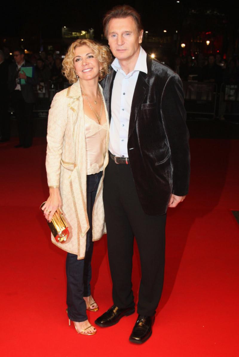 Liam Neeson alături de soția sa Natasha Richardson