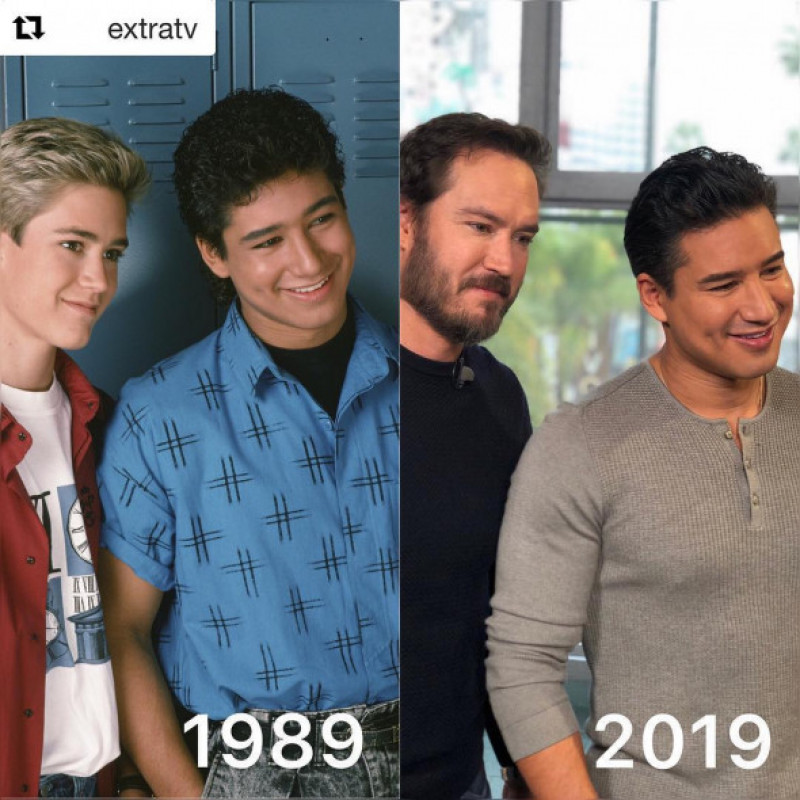 Mark-Paul Gosselaar Mario Lopez 30 Years Challenge