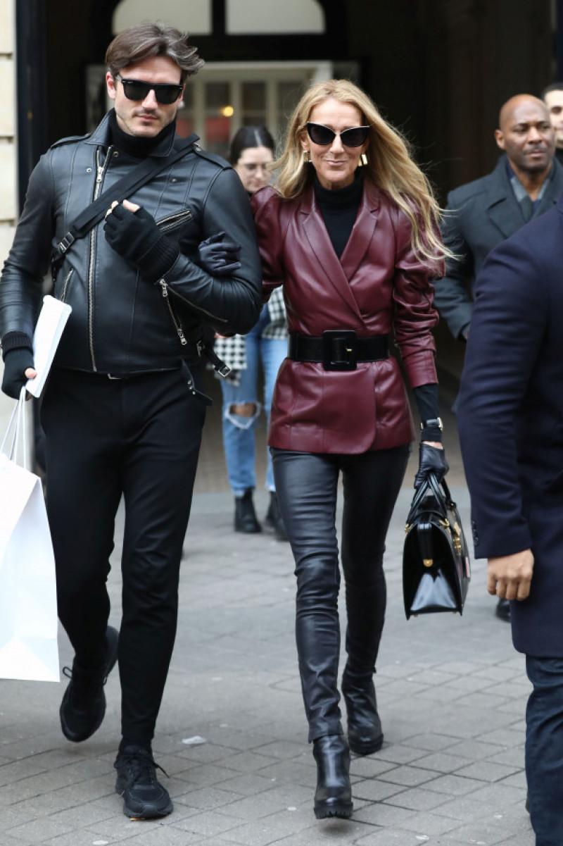 Celine Dion și Pepe Munoz, la hotelul Le Crillon, à Paris