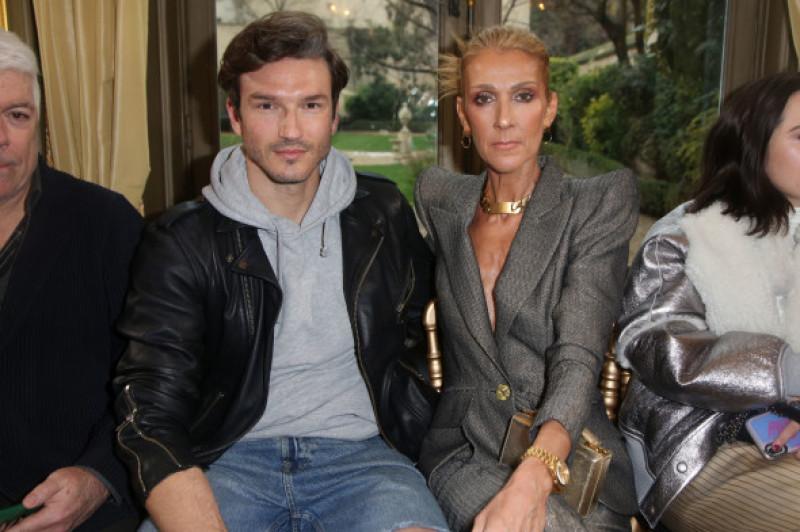 Celine Dion și Pepe Munoz la prezentarea colecției Ronald van der Kemp