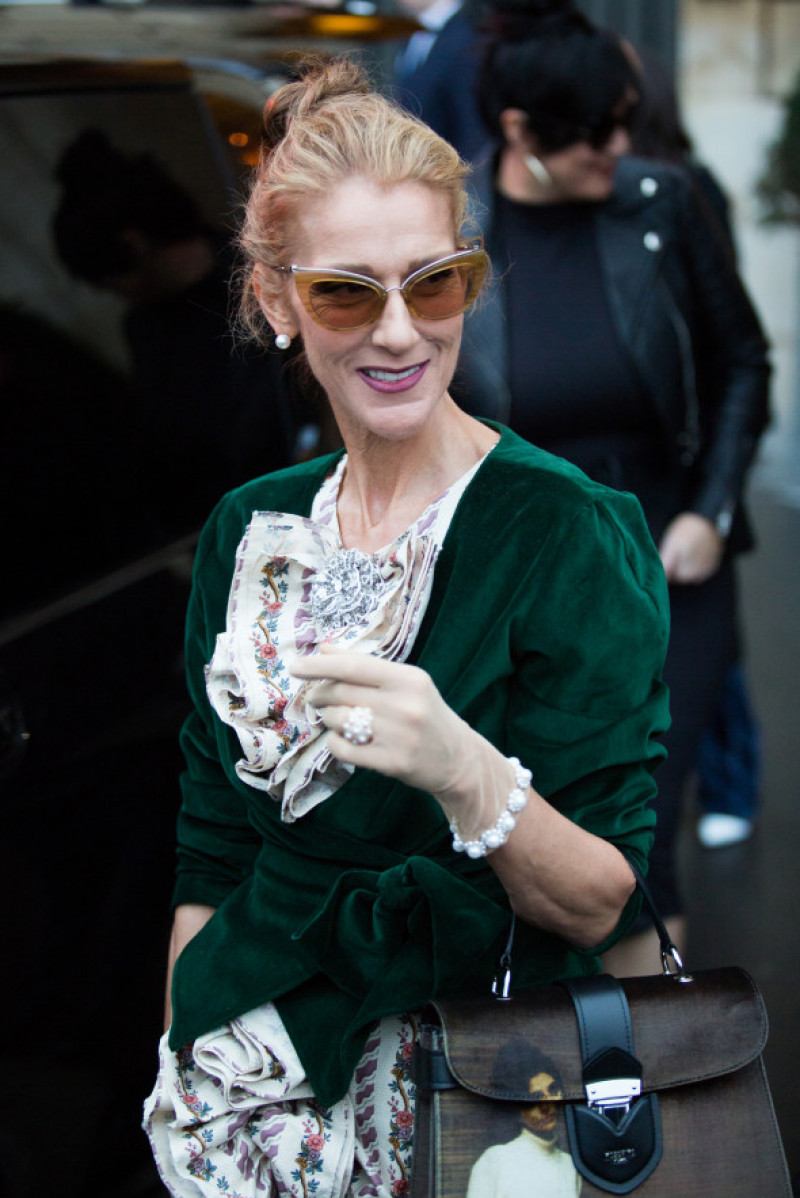 Celine Dion la Săptămâna Modei de la Paris