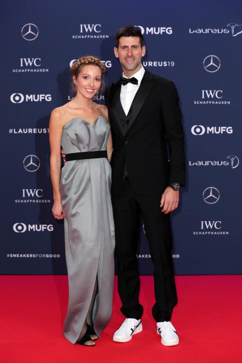 Novak Djokovic alături de soția sa, Jelena