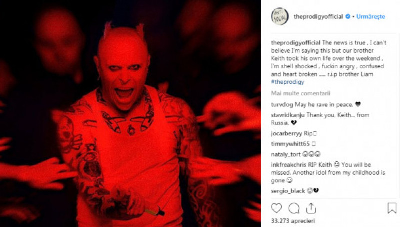 mesaj deces keith flint