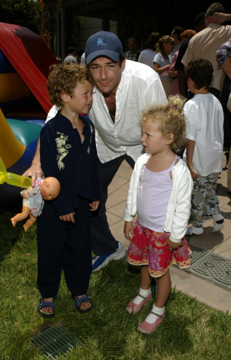 Luke Perry alături de copiii săi Jack și Sophie