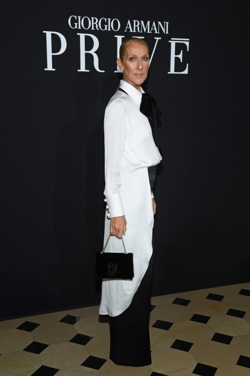 Celine Dion la prezentarea colecției Giorgio Armani Prive - Paris Fashion Week - Haute Couture Spring Summer 2019
