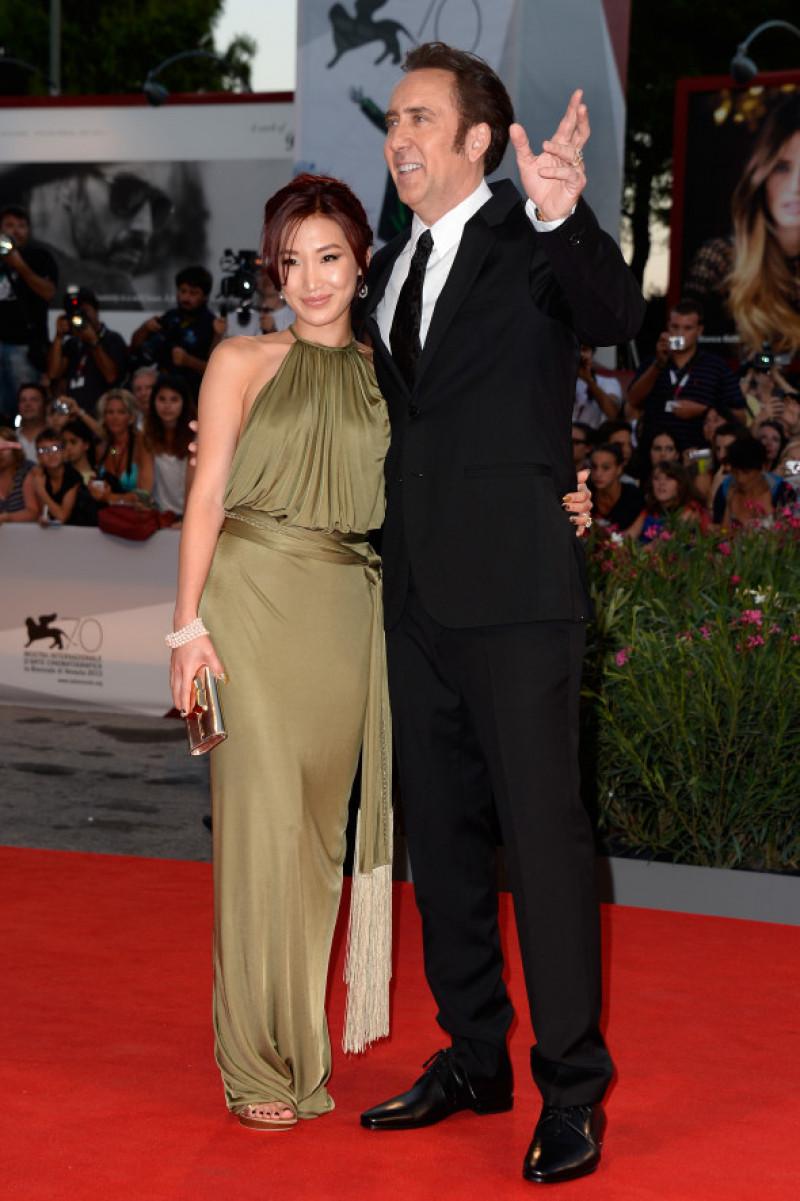 Alice Kim cu Nicholas Cage la Festivalul de Film de la Veneția