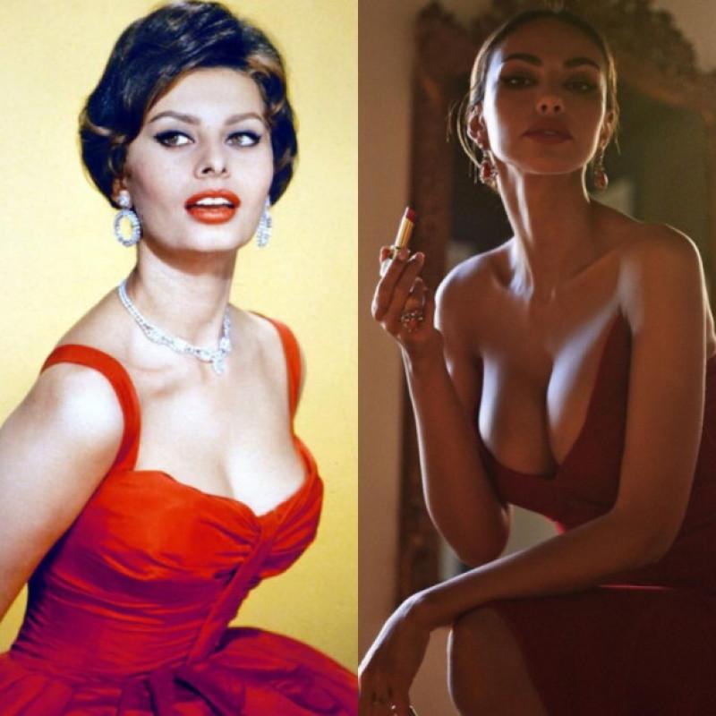 Sophia Loren și Mădălina Ghenea