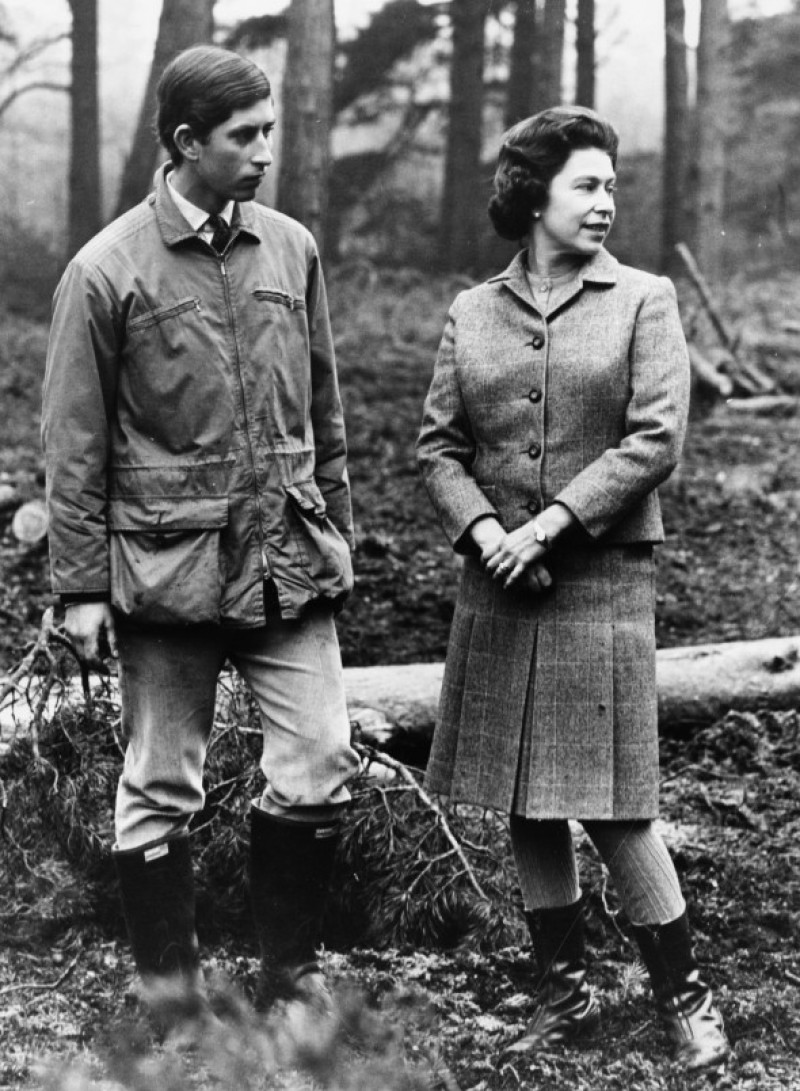 Princes Charles And Queen Elizabeth II