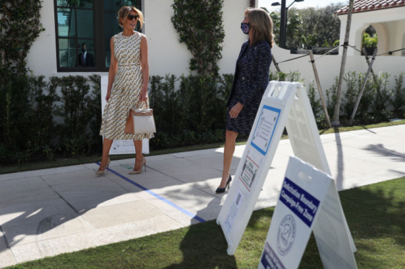 First Lady Melania Trump Casts Her Vote In The 2020 Presidential Election