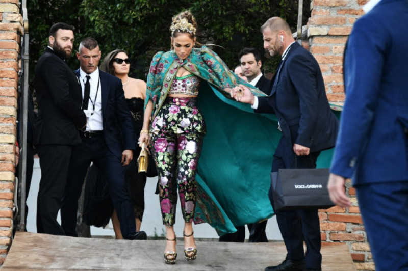 Jennifer Lopez WOWS at the Dolce & Gabbana event in Venice, Italy.