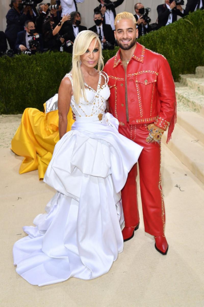 Donatella Versace și Maluma,