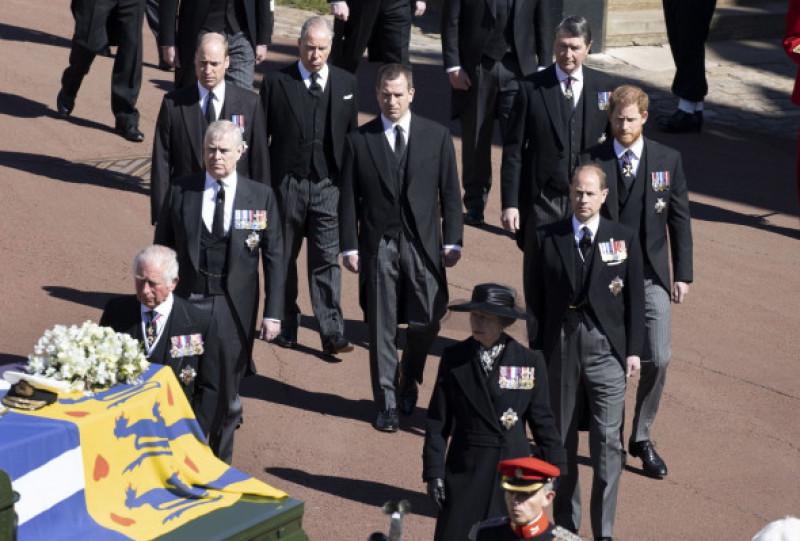 The funeral of Prince Philip, Duke of Edinburgh, Guard Room Roof, Windsor Castle, Berkshire, UK - 17 Apr 2021
