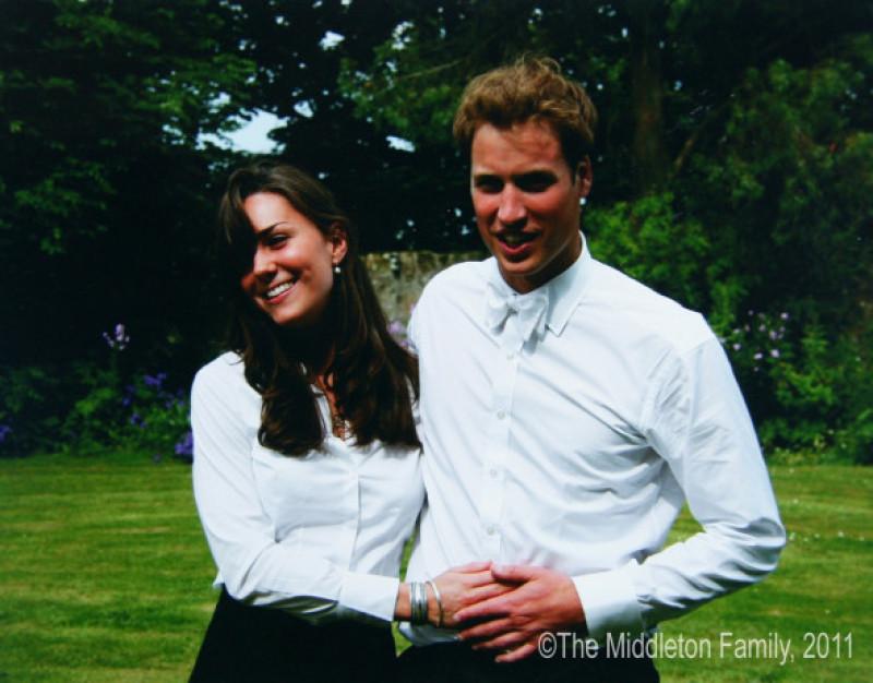 Kate Middleton și prințul William, la absolvirea facultății, în 2005