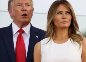 """Melania Trump, surprinsă în compania soțului ei după ce s-a spus că """"numără minutele până la divorț"""". Ce se întâmplă între ea și Donald"""