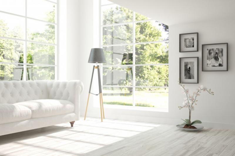 White,Room,With,Sofa.,Scandinavian,Interior,Design.,3d,Illustration